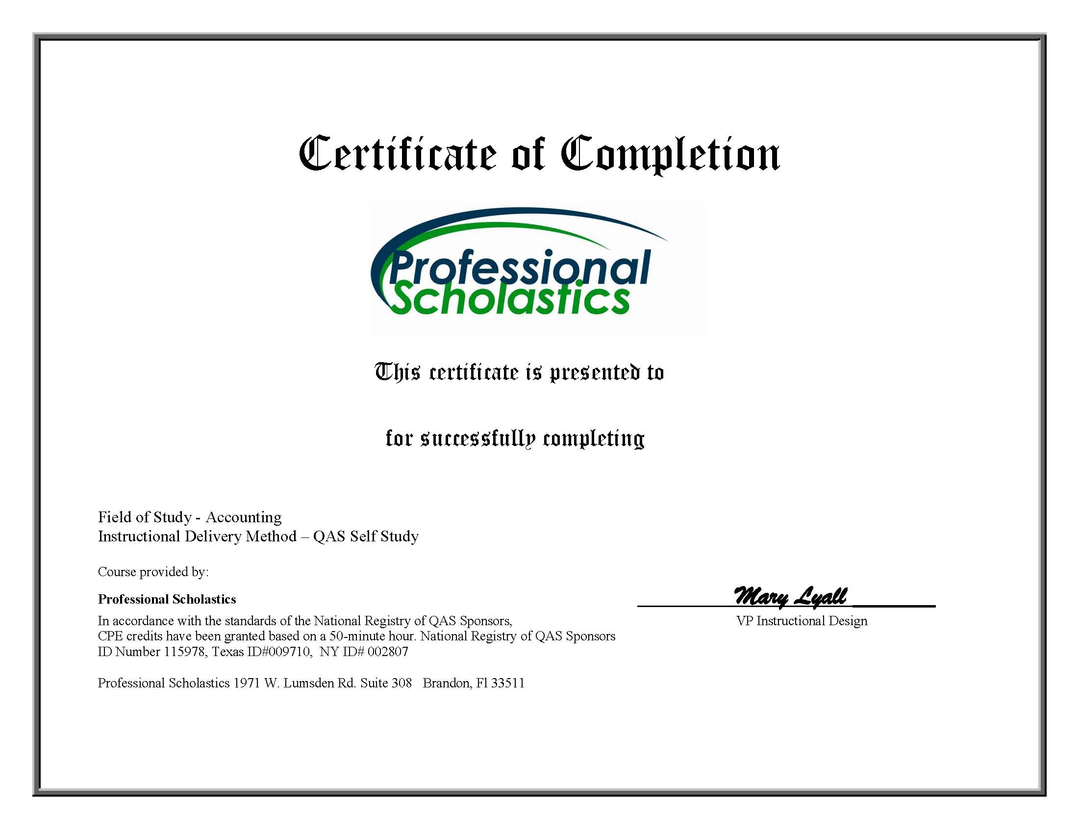 audit certificate template - cpecentral gaap explained 16 credit accounting course